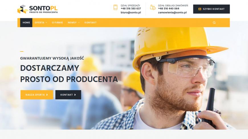 Nowa strona firmy SONTO